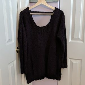 Torrid Purple Sweater Lace up Back